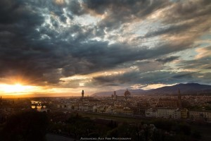 Sunset over Florence and the Arno ~ Il tramonto su Firenze ed il suo Arno